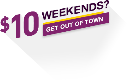 Heading Image: $10 Weekends? Get out of town